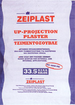 up projection plaster